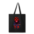 Hand painted rottweiler Tote Bag - black