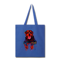 Hand painted rottweiler Tote Bag - royal blue
