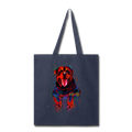 Hand painted rottweiler Tote Bag - navy