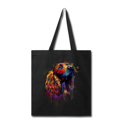 Hand painted cocker spaniel Tote Bag - black
