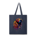 Hand painted cocker spaniel Tote Bag - navy