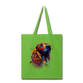 Hand painted cocker spaniel Tote Bag - lime green