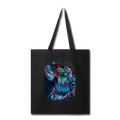 Hand painted Schnauzer Tote Bag - black