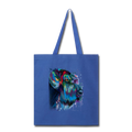 Hand painted Schnauzer Tote Bag - royal blue
