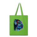 Hand painted Schnauzer Tote Bag - lime green