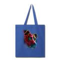 Hand painted pitbull Tote Bag - royal blue