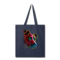Hand painted pitbull Tote Bag - navy