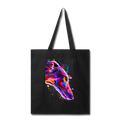 hand painted greyhound Tote Bag - black