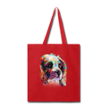 Hand painted cavalier Tote Bag - red