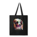 Hand painted cavalier Tote Bag - black