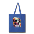 Hand painted cavalier Tote Bag - royal blue