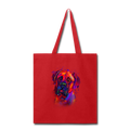 Hand painted Bullmastiff Tote Bag - red