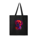 Hand painted Bullmastiff Tote Bag - black