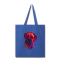 Hand painted Bullmastiff Tote Bag - royal blue