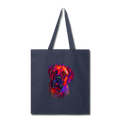 Hand painted Bullmastiff Tote Bag - navy