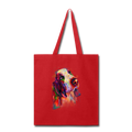 Hand painted bassethound Tote Bag - red