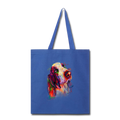 Hand painted bassethound Tote Bag - royal blue