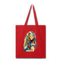 Hand painted bassethound-Tote Bag - red