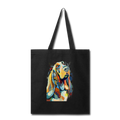 Hand painted bassethound-Tote Bag - black