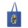 Hand painted bassethound-Tote Bag - royal blue