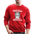 THIS IS MY HUMAN COSTUME Crewneck Sweatshirt - red