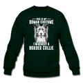 THIS IS MY HUMAN COSTUME Crewneck Sweatshirt - forest green