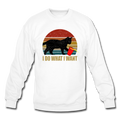 I DO WHAT I WANT Crewneck Sweatshirt - white
