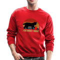 I DO WHAT I WANT Crewneck Sweatshirt - red