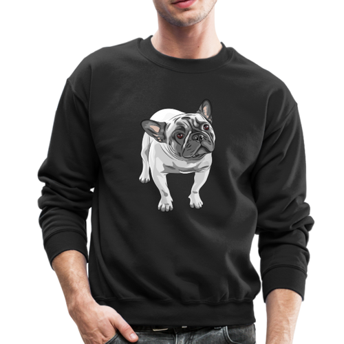 FUNNY ENGLISH BULLDOG Crewneck Sweatshirt - black