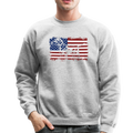 AMERICAN FLAG DACHSHUND Crewneck Sweatshirt - heather gray