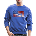 AMERICAN FLAG DACHSHUND Crewneck Sweatshirt - royal blue