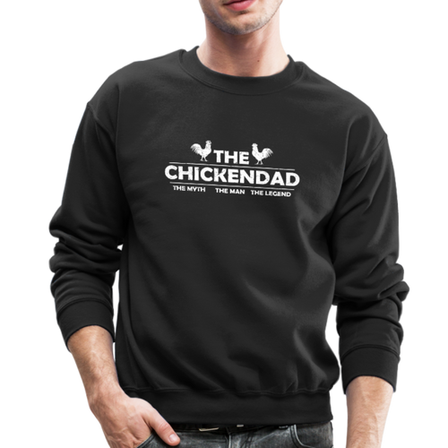 THE CHICKEN DAD Crewneck Sweatshirt - black