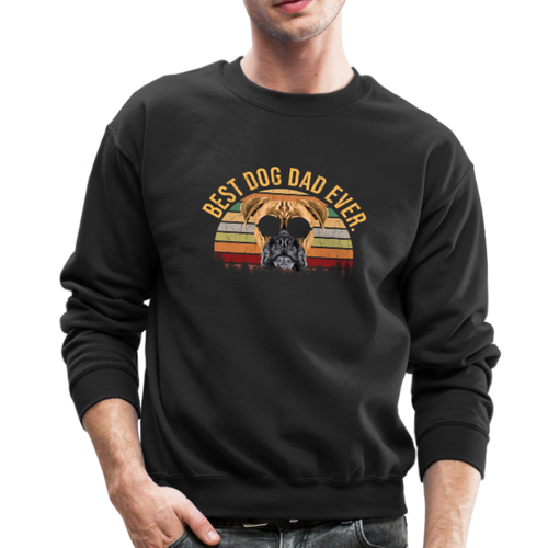BEST DOG DAD EVER Crewneck Sweatshirt - black