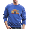 BEST DOG DAD EVER Crewneck Sweatshirt - royal blue