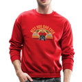 BEST DOG DAD EVER Crewneck Sweatshirt - red