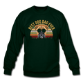 BEST DOG DAD EVER Crewneck Sweatshirt - forest green