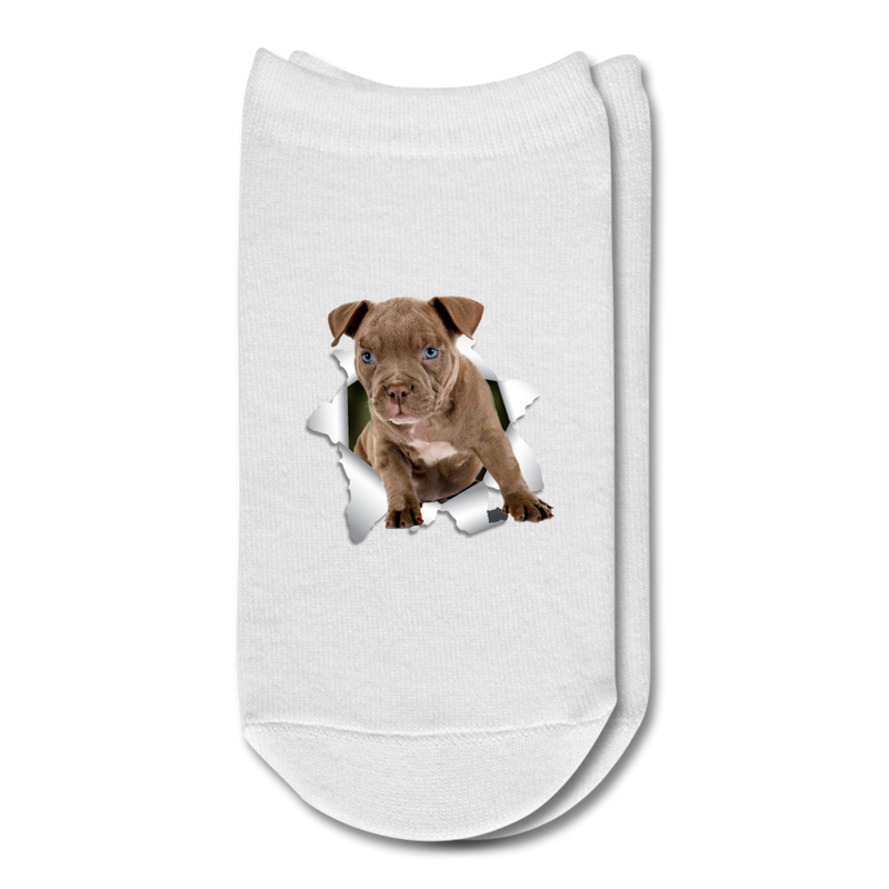 Pitbull 3D Ankle Socks - white