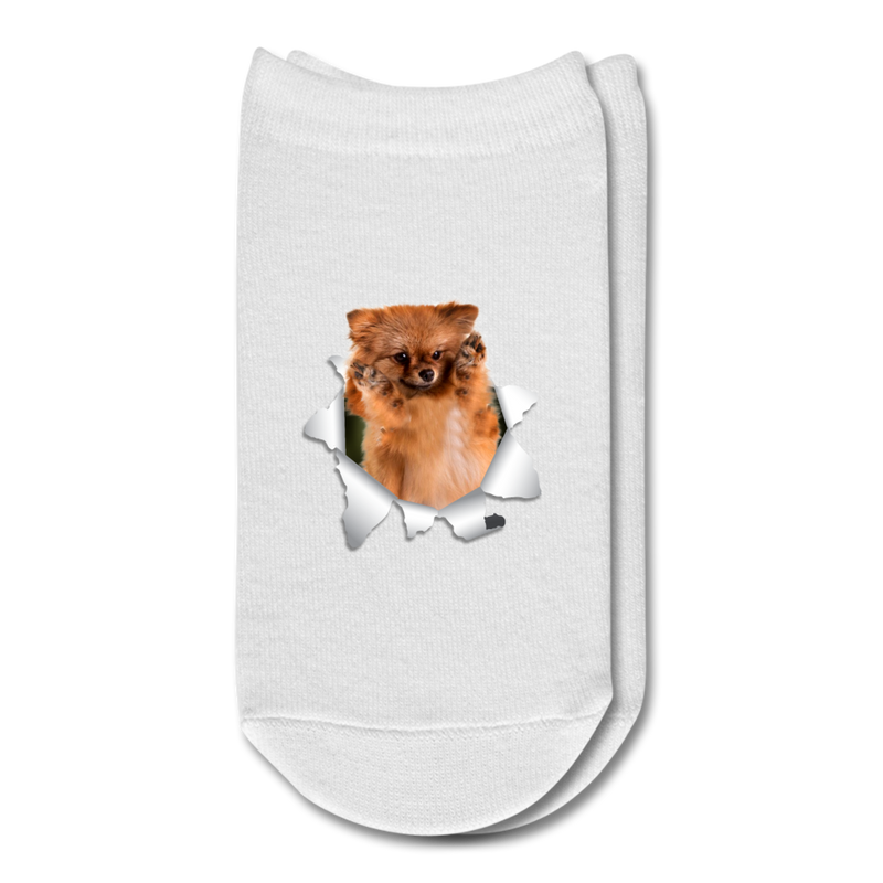 German_spitz_klein 3D Ankle Socks - white