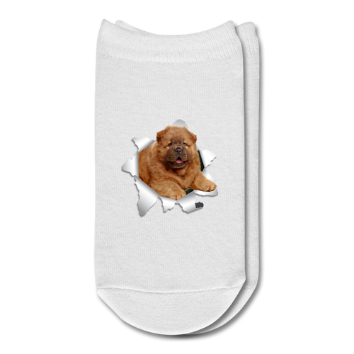 CHOW_CHOW 3D Ankle Socks - white