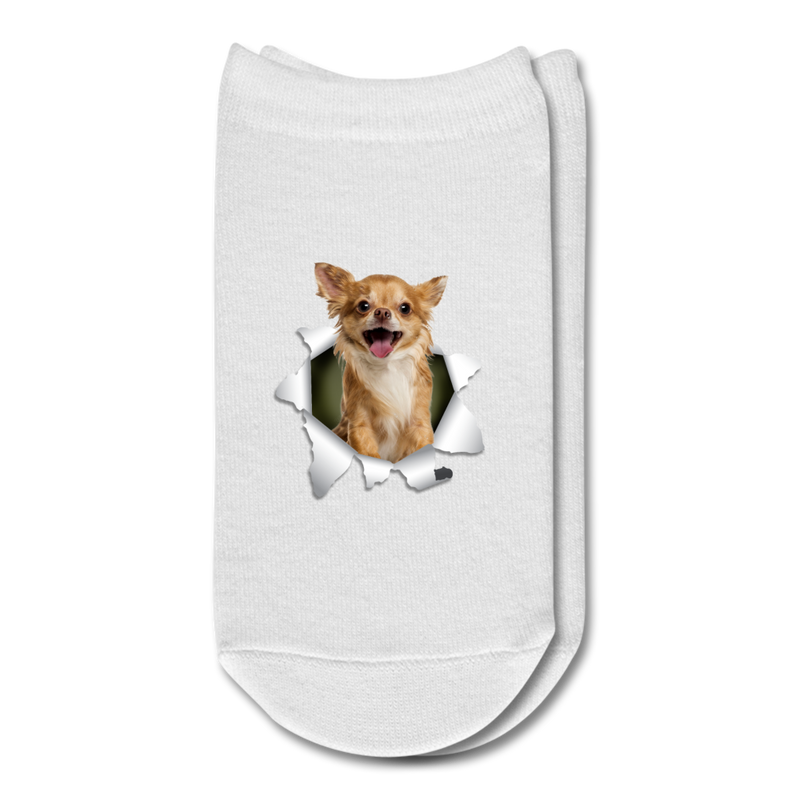 Chihuahua 3D Ankle Socks - white