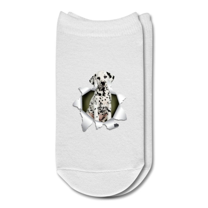 Dalmatian 3D Ankle Socks - white