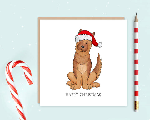 German Shepherd Christmas Card Pack of 10