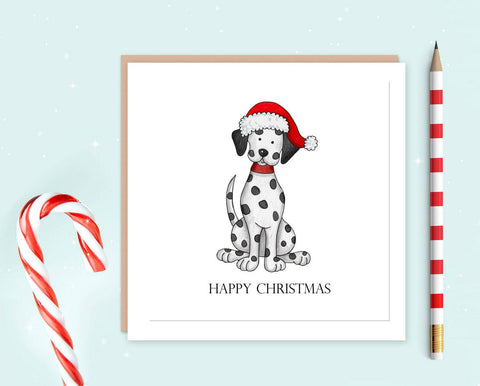 Dalmatian Christmas Card Pack of 10