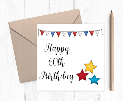 Age Birthday Card for 21 - 90 year old - birthday card - year card for him - mens birthday card