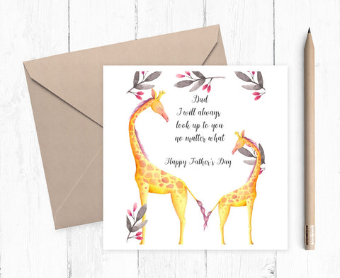 Father's Day Card - Giraffe Card - Card for Father's Day