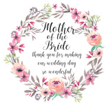 Mother of the Bride wedding thank you card