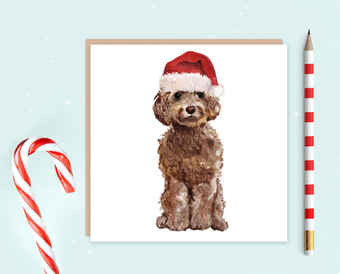 Cockapoo Christmas Card - Pack of 10 - Christmas Gift for Dog Lovers