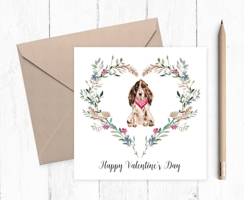 Cocker Spaniel Valentine Card