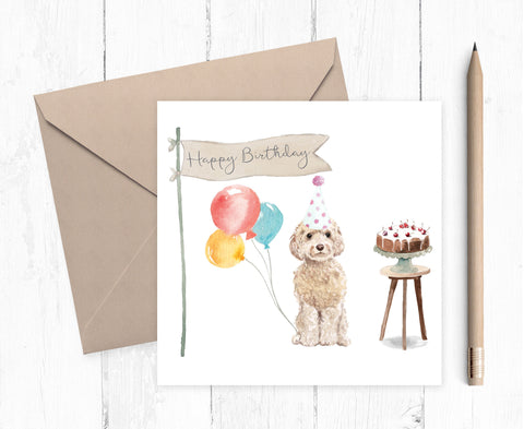 Cockapoo Birthday Card - Pack of Ten