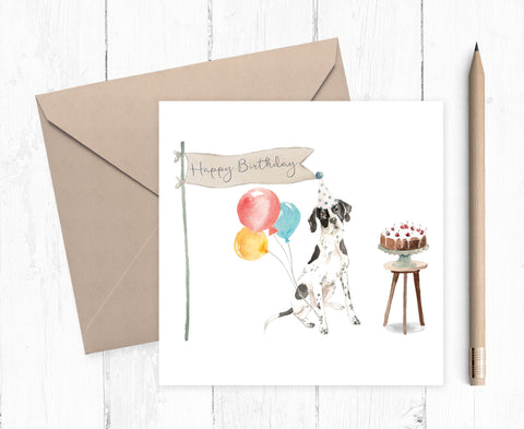 English Pointer Birthday Card